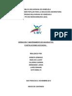 Operacion y Mantenimiento de Gasoducto e Instalaciones Asociados
