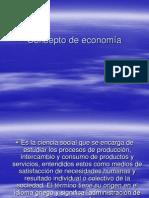 Concepto de economía y mercado