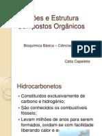 Funções e Estrutura - compostos orgânicos