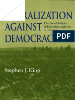 Liberalization Against Democracy the Local Politics of Economic Reform in Tunisia Middle East Studies
