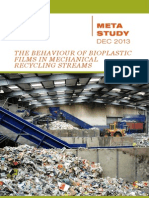 The Behaviour of Bioplastic Films in Mechanical Recycling Streams
