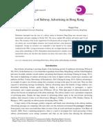 Effectiveness of Subway Advertising in Hong Kong