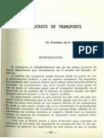 Articulo - El Contrato de Transporte