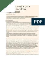 Cuatro Consejos Para Reforzar La Cultura Empresarial