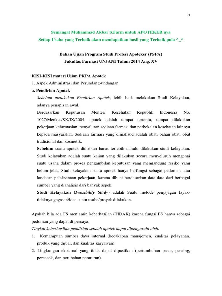 Bahan ujian program studi profesi apoteker akbar ccuart Images