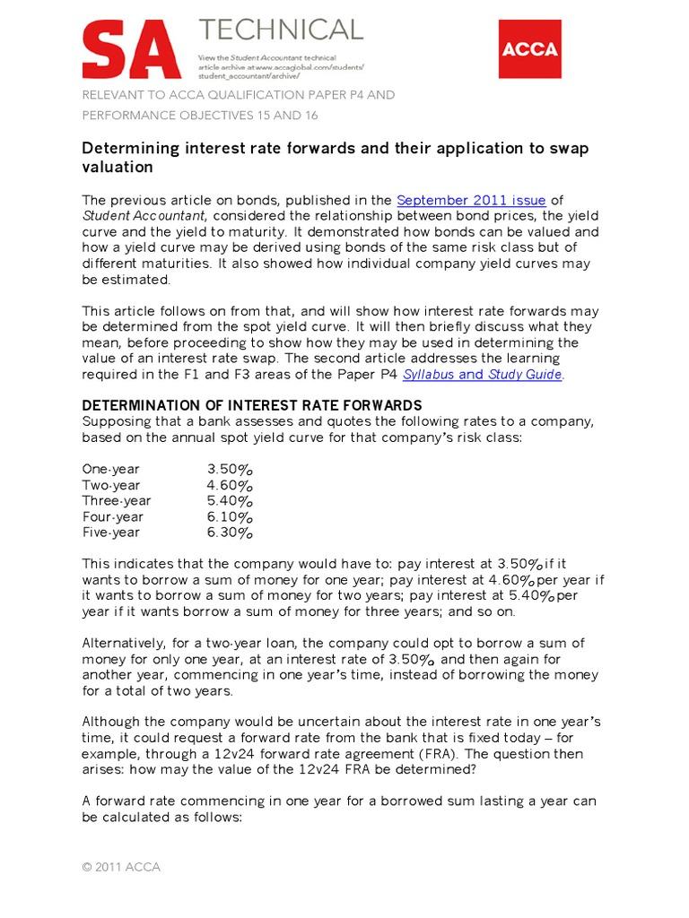 P4 Article Swap Finance Yield Curve