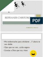 REFRANES Chistosos