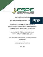 CONSTRUCCIÓN Y PROGRAMACIÓN DE UN MÓDULO ELECTRÓNICO PARA COMPROBACIÓN Y CALIBRACIÓN DE INYECTORES DIESEL CRDI