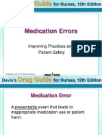 Medication Errors Improving Practices and Patient Safety