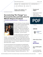 "Encountering ""the Change"" as a Personal Exodus and Liberation by Michele Stopera Freyhauf «"