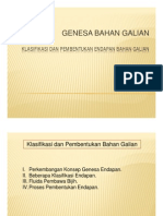 Klasifikasi Dan Pembentukan Endapan Bahan Galian