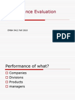 Performance Evaluonnfation