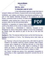 b. Pd 1612 Anti-fencing Law of 1979