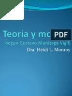 Teoría y modelo según Gustavo Munizaga Vigil