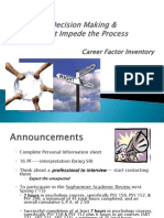 Career Decision Making & Barriers Original.2013