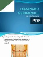 Examinarea abdomenului