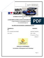 Summer Training Project on Maruti Suzuki