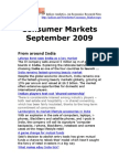 Consumer Markets September 2009