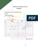 Formulir Pendaftaran Futsal KOMPOR IKAHIMKI