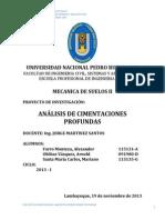 ANÁLISIS DE CIMENTACIONES PROFUNDAS