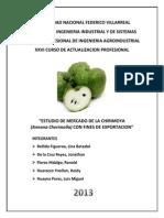 Estudio de Mercado de La Chirimoya Con Fines de Exportacion
