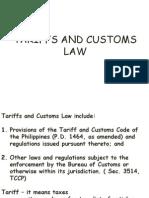 Tariffs and Customs Law