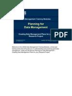 USGS  Data Management Training - Module 2 - Planning for DM