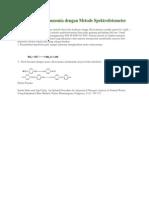 Reaksi Analisa Ammonia Dengan Metode Spektrofotometer Fenat