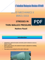 Thin Walled Pressure Vessel