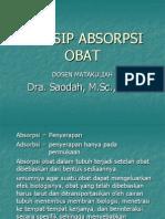 Prinsip Absorpsi Obat