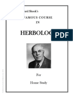 Advance Course in Herbology DR Edward Shook