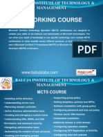 MCTS Course
