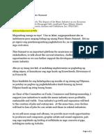 Sen. Bam Aquino's Speech  at the Pinoy Music Summit 2014