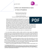 The Reform of the Local Administration in Spain in Terms of Population