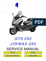 SYM JOYMAX GTS RV 250 Service Manual