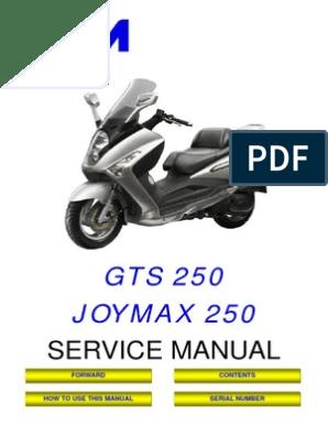 SYM JOYMAX GTS RV 250 Service Manual | Carburetor | Internal