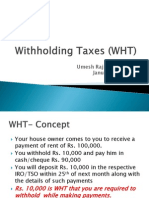 Withholding Taxes Wht
