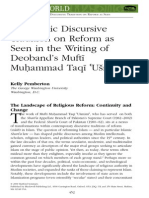 An Islamic Discursive Tradition on Reform as Seen in the Writing of Deoband's Mufti Muhammad Taqi Usmani