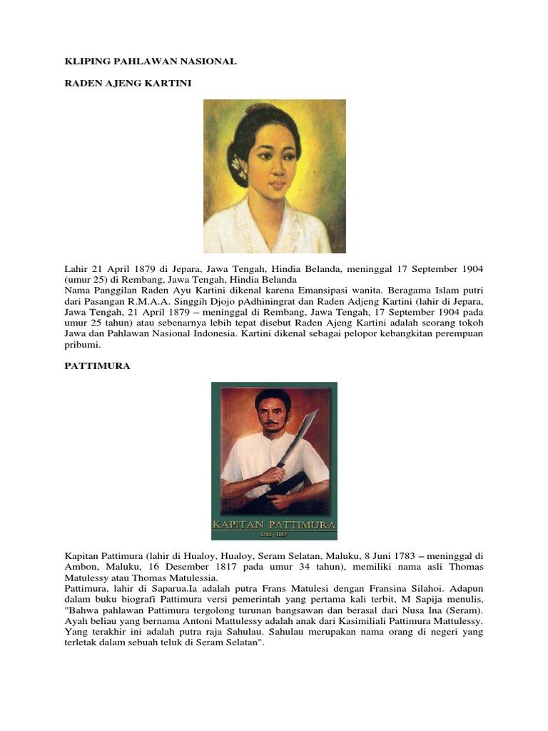 Gambar Pahlawan Nasional Nama