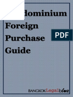 Thailand Condominium Foreign Purchase Guide