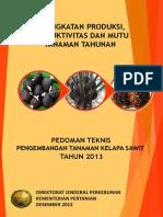 Pedoman Teknis Pengembangan Tanaman Kelapa Sawit