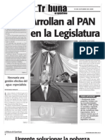 Tribuna 513.  Arrollan al PAN en la Legislatura