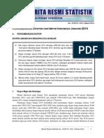 Berita Resmi BPS Bulan Januari 2014 tentang Nilai Ekspor dan Impor Indonesia