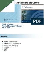TeleFormSALES Webinar