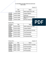 Bu Time Table-may 2014