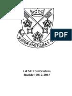 2012 GCSE Curriculum Book(2)