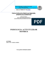 Psihologia activitatilor motrice