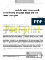 A hybrid approach to fuzzy name search  incorporating language-based and textbased principles