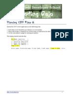 Agility Kata Viewing CSV Files II