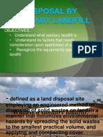 Disposal by Sanitary Landfill